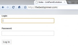 Logiciel seo link farm evolution utilisé par The best spinner