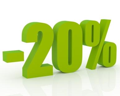 20% de réduction pour votre référencement