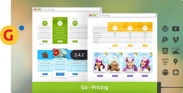 Go - Responsive Pricing & Compare Tables for WP - CodeCanyon Item for Sale