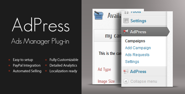 AdPress - WordPress Ad Manager - CodeCanyon Item for Sale